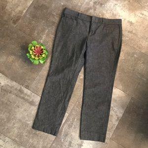 BANANA REPUBLIC Sloan 6p grey chambray trouser
